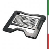 Base di raffreddamento per notebook, caratterizzato da uno strato di alluminio e da un design accattivante e moderno. Misura 336