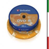 VERBATIM DVD-R 16x 4.7GB Spin 25pk