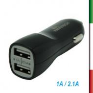 ADATTATORE  porta accend.+2 PORTE USB 2ABLACK