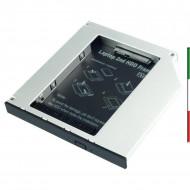 SLITTA SATA x SSD HDD fino a 9,5mm.Con questo adattatore, è possibile installare un secondo hard disk o SSD 2.5 SATA nel lettore