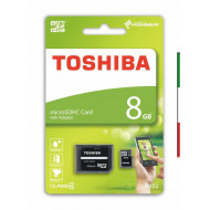 MICRO SECURE DIGITAL 8GB EXCERIA M102 CLASS4 + ADATTATORE TOSHIBA THN-M102K0080M2