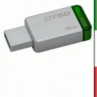 PEN DRIVE USB3.0 16GB KINGSTON DT50/16GB METAL CASE SILVER