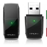 ADATTATORE WIRELESS AC600 DUAL BAND TP-LINK ARCHER T2U USB2.0 150MBPS A 2.4GHZ + 433MBPS A 5GHZ 802.11AC/A/B/G/N